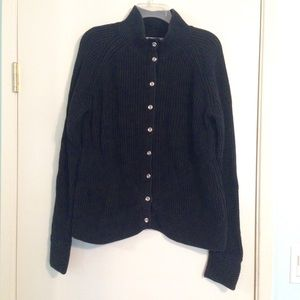 Banana Republic black cardigan with silver buttons